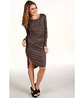 Halston Heritage - Long Sleeve Fishtail Hem Dress