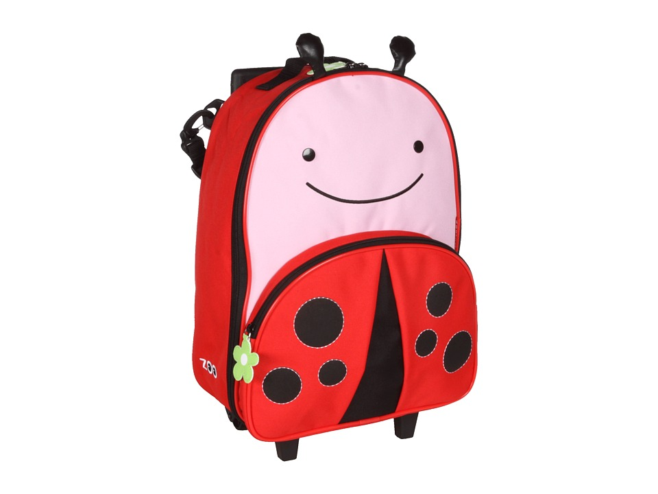 Skip Hop Zoo Kids Rolling Luggage Livie Lady Bug Carry on Luggage