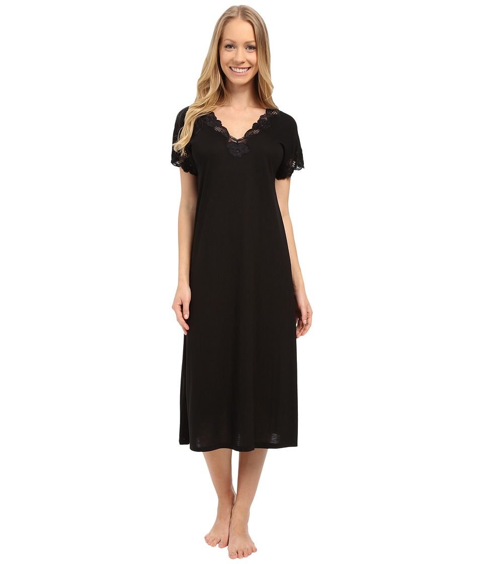 Natori Zen Floral Nightgown (Black) Women's Pajama