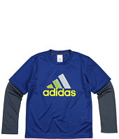adidas Kids - Logo 2-in-1 Tee (Big Kids)