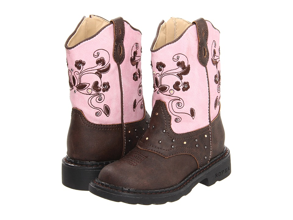 Roper Kids Western Dazzle Lights (Toddler/Little Kid) (Brown) Cowboy Boots
