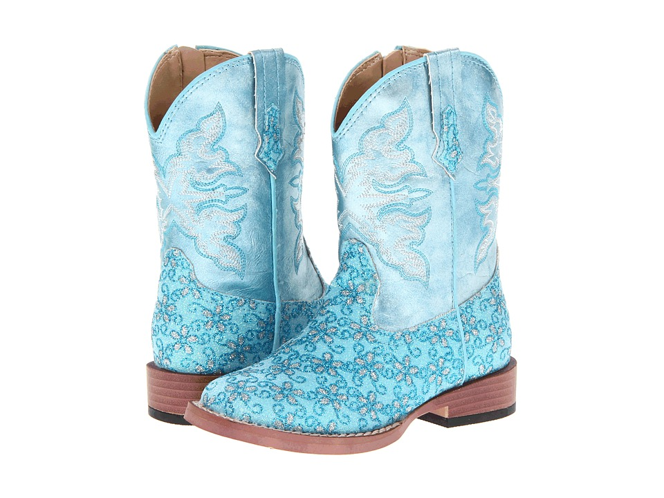 Roper Kids Bling Glitter Toddler Blue Cowboy Boots