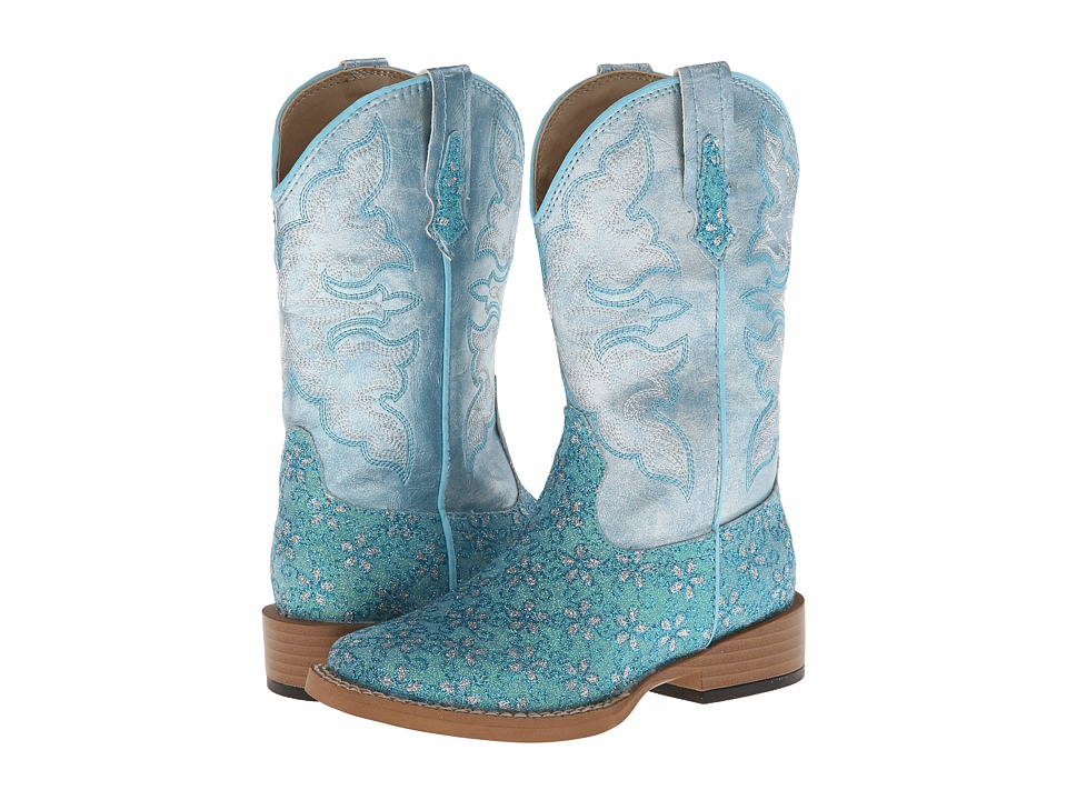 Roper Kids Bling Glitter Toddler/Little Kid Blue Cowboy Boots