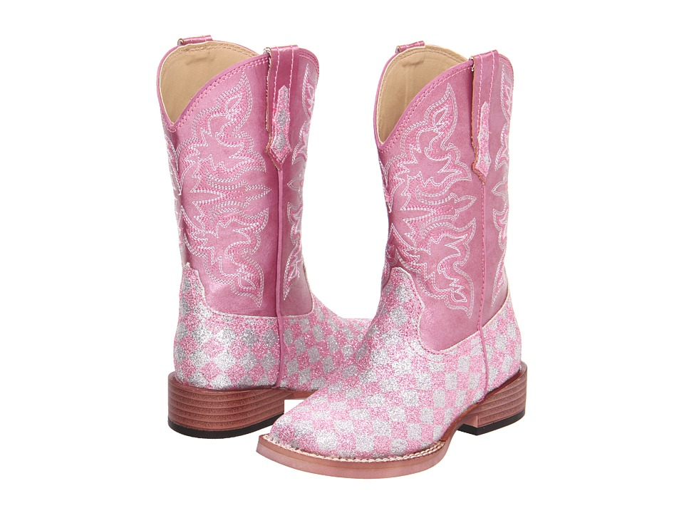 Roper Kids Bling Glitter Toddler/Little Kid Pink Cowboy Boots