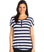 P.J. Salvage - White Impressions Striped Top