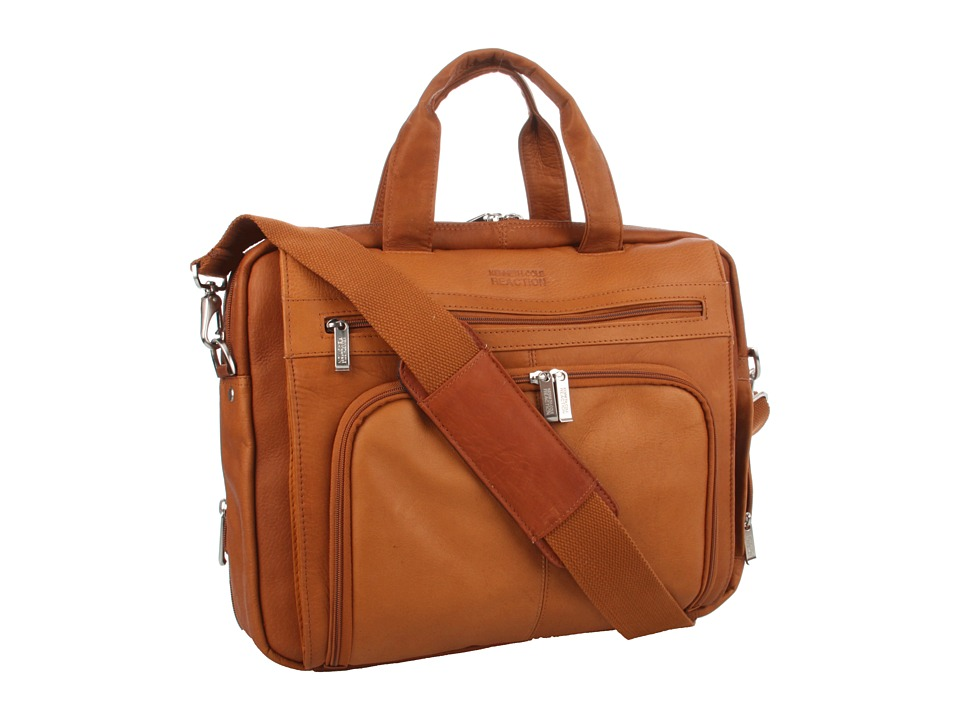 Kenneth Cole Reaction - Out of the Bag - 5 to 6 1/2 Double Gusset Expandable Top Zip Portfolio Computer Case (Tan) Computer Bags