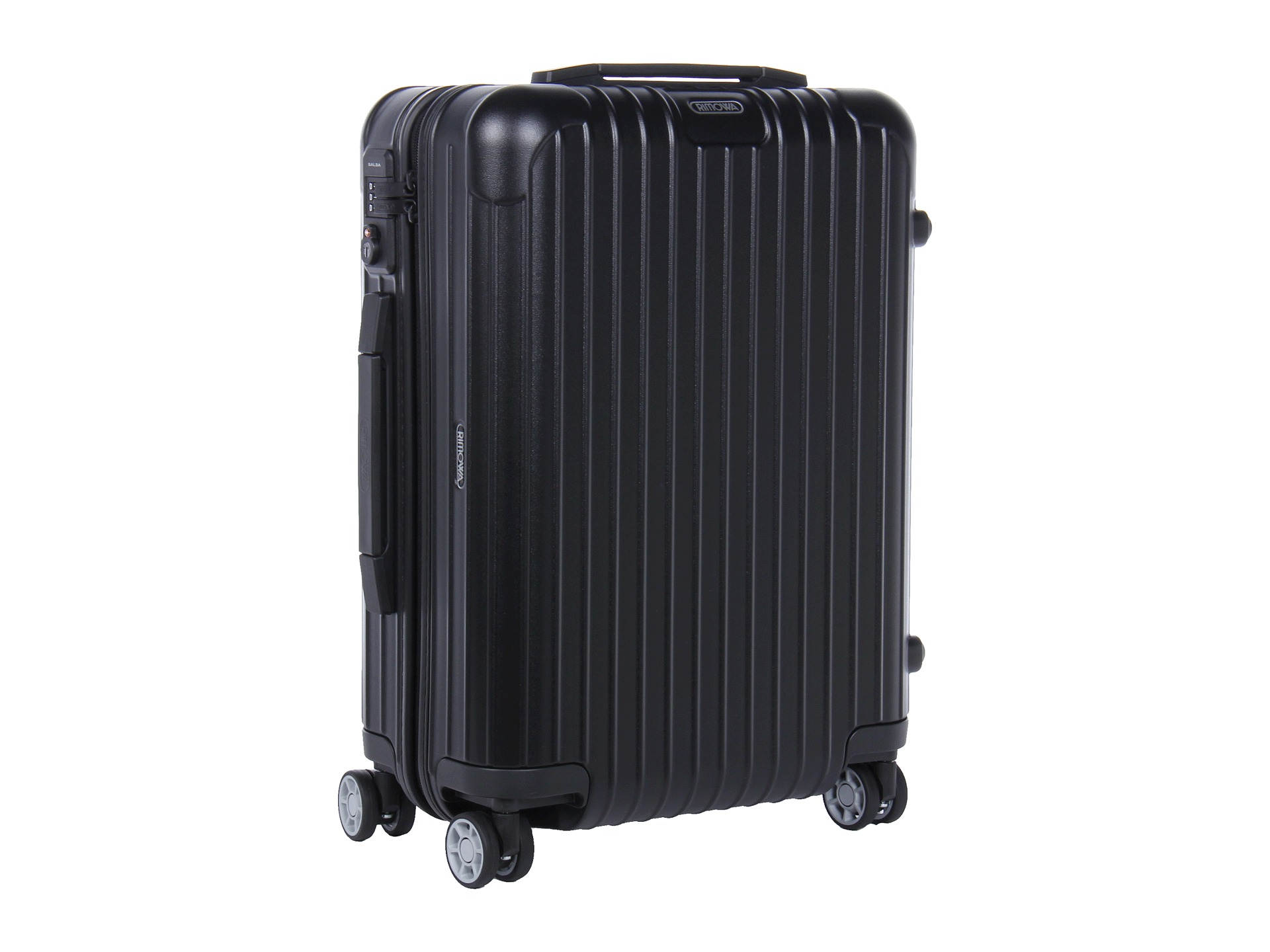 rimowa salsa 22 cabin multiwheel iata matte black free shipping both ways. Black Bedroom Furniture Sets. Home Design Ideas