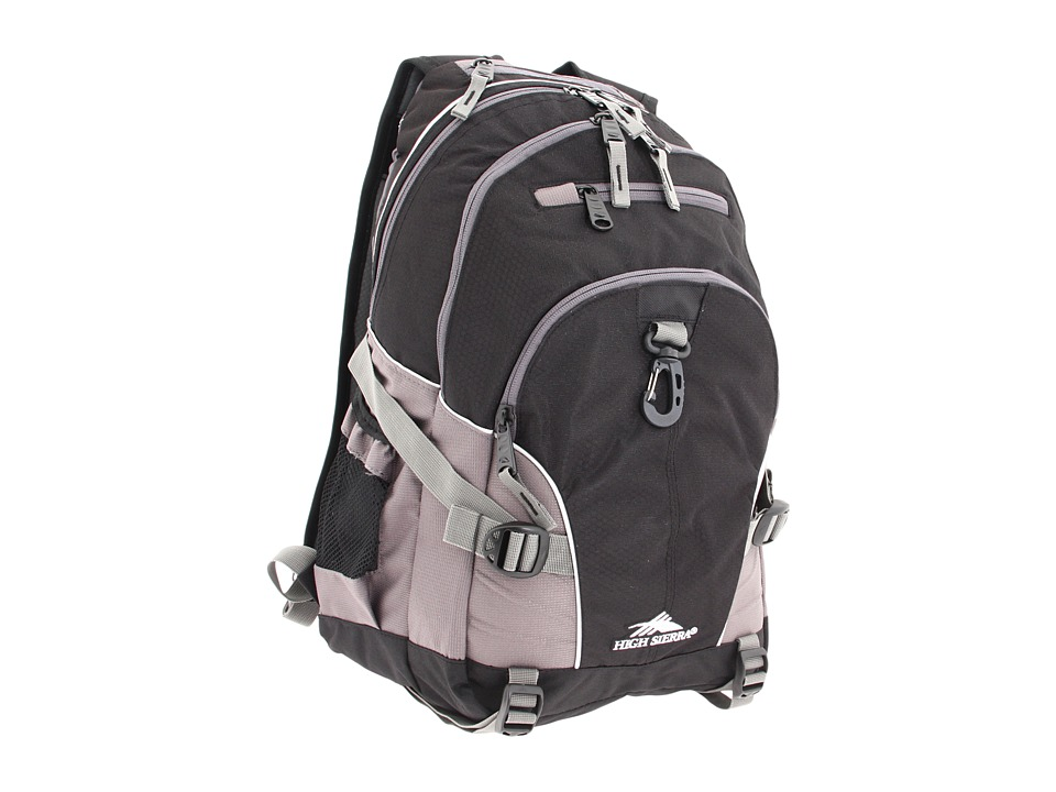 High Sierra Loop Backpack (Black/Charcoal) Backpack Bags