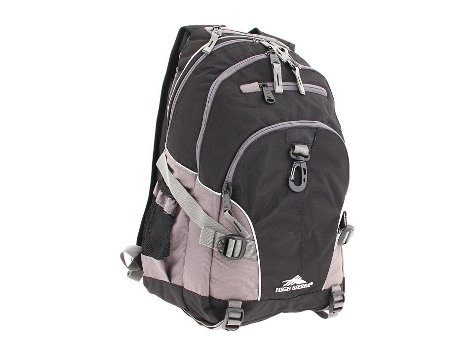 High Sierra Loop Backpack (Black/Charcoal) Backpack Bags