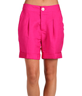 Karen Kane - Pleated Cuff Short in Bright Pink