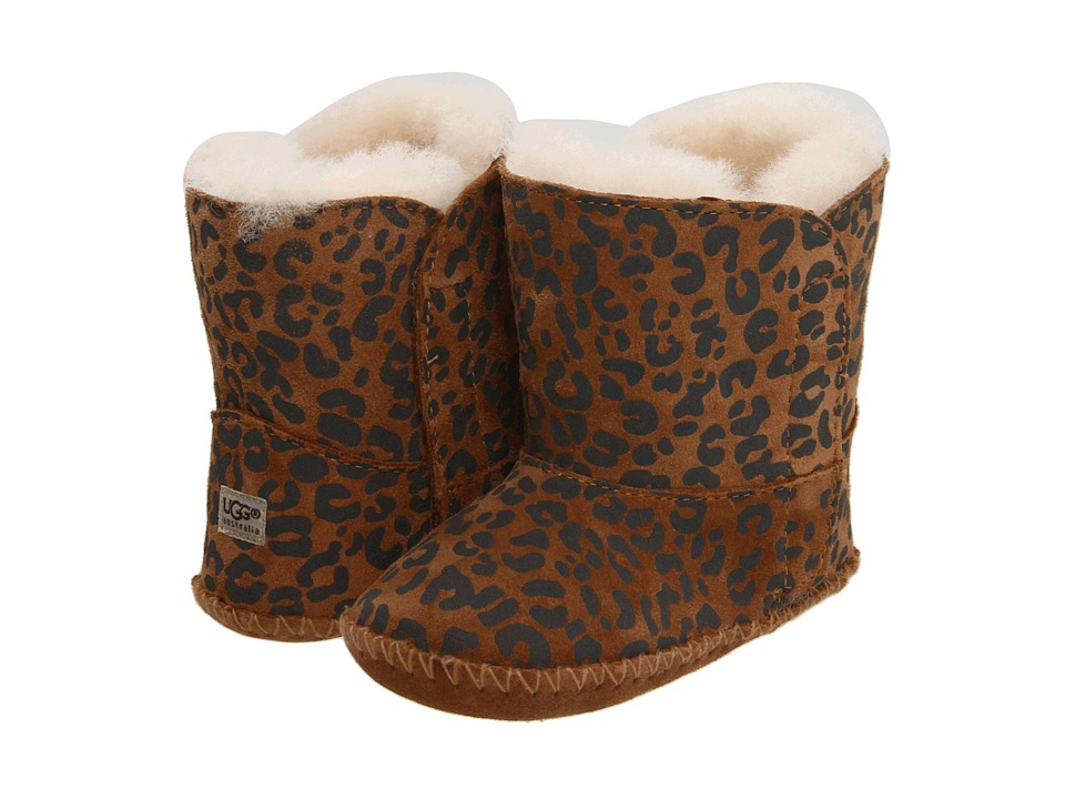 UGG Kids Cassie Leopard (Infant/Toddler) (Chestnut Leopard) Girls Shoes