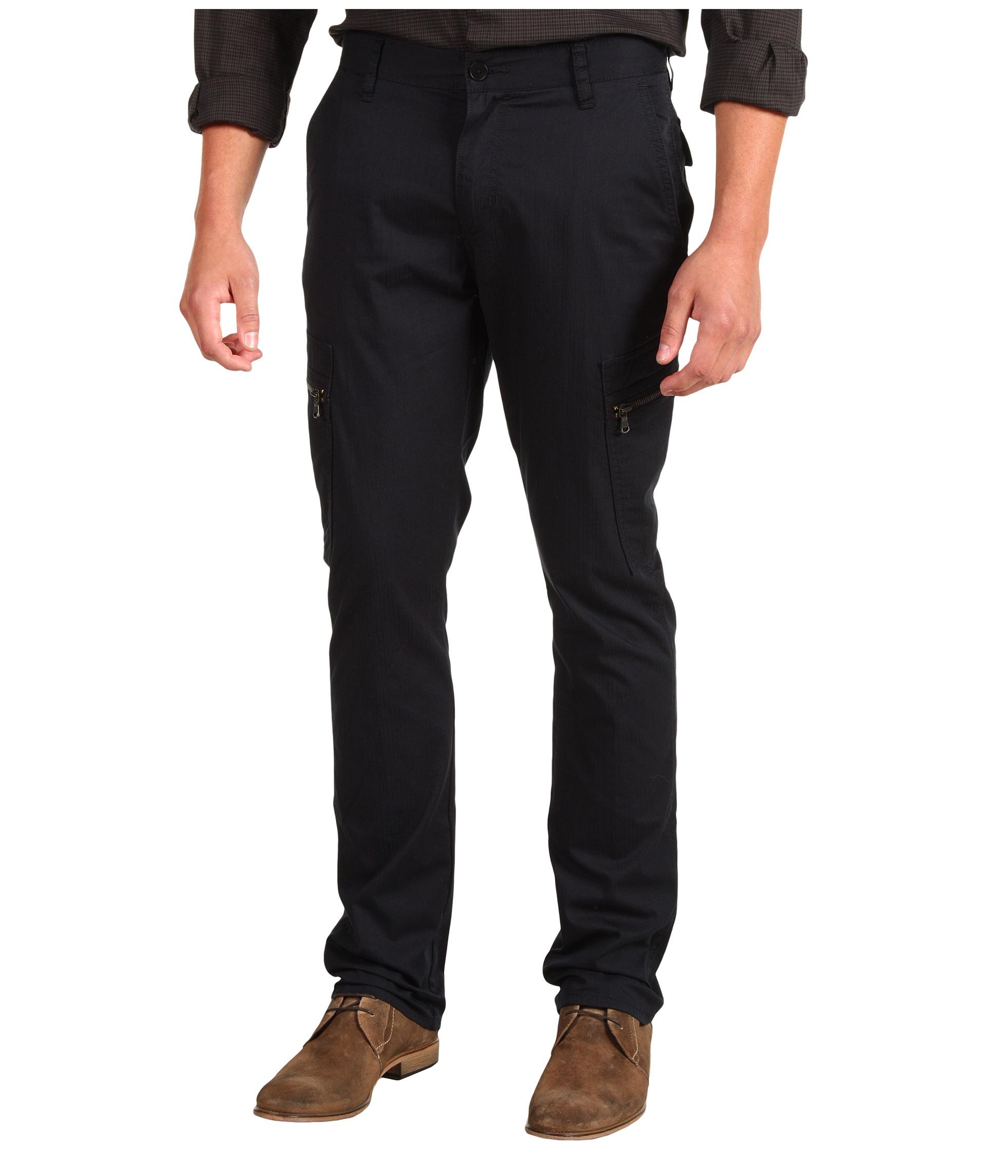 Sale Discount John Varvatos Zip Cargo Pant Black