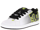 DC - Court Graffik SE (White/Black/Soft Lime) - Footwear