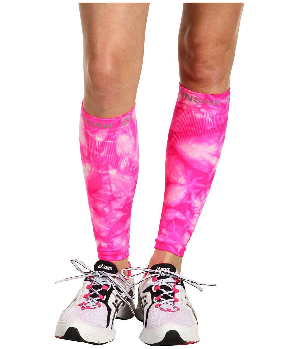 Zensah Compression Leg Sleeves Pink Tie Dye Athletic Sports Equipment