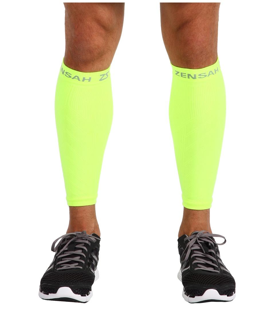Zensah Compression Leg Sleeves (Neon Yellow) Athletic Spo...