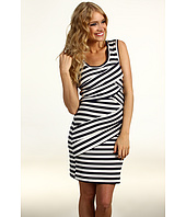 Nicole Miller - Striped Jersey Scoop Neck Dress