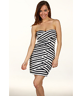 Nicole Miller - Striped Jersey Strapless Dress