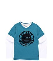 Hugo Boss Kids - Premium Chic S/L & L/S T-Shirt Set (Big Kids)
