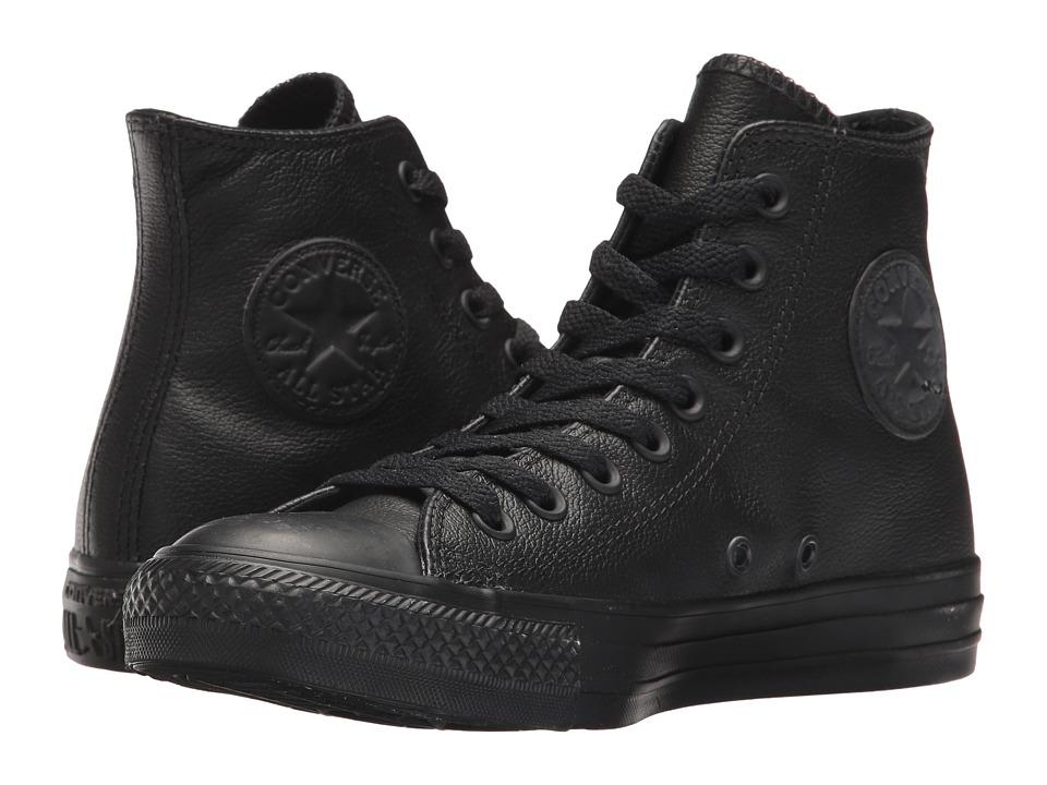 Converse Chuck Taylor(r) All Star(r) Leather Hi (Black Mo...