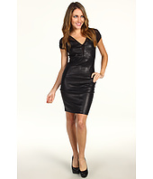 Miha - Sabrina Leather Front Dress