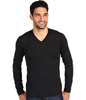 John Varvatos Star U.S.A. - Pintuck Detail V-Neck Sweater