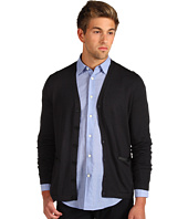 John Varvatos Star U.S.A. - Solid Leather Trim Cardigan