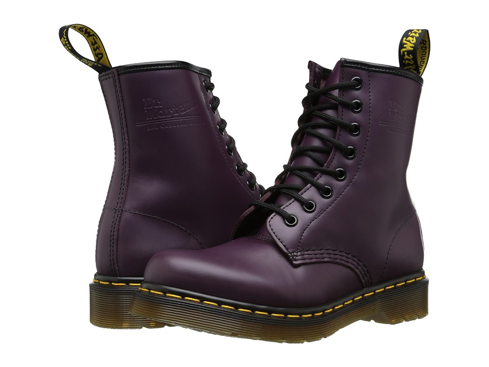 Dr Martens 1460 W (Purple Smooth Leather) Women's Lace-up...