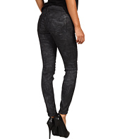 Genetic Denim - Raquel Mid Rise Crop in Black/Silver Metallic