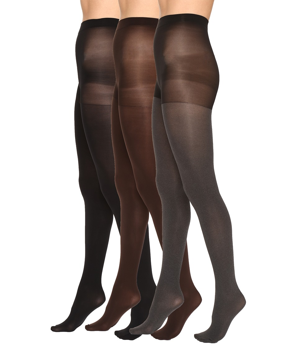 HUE - Super Opaque 3 Pair Pack Tights