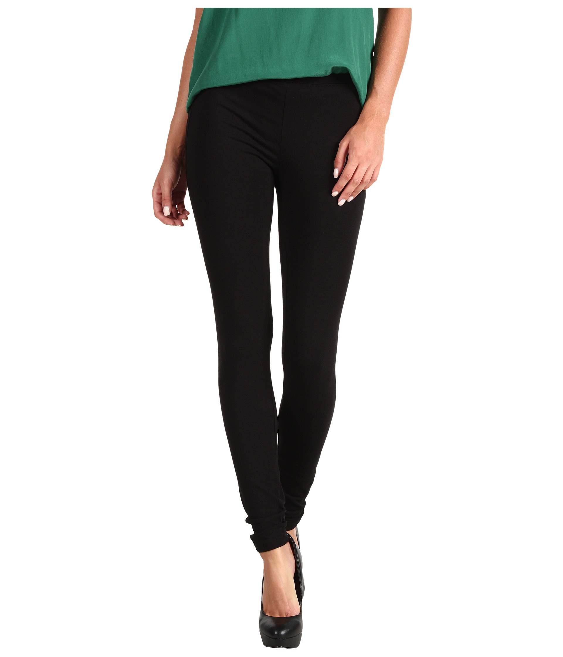 V Star Black Cotton Leggings from the house of VStar. Vanessa leggings made of 95% cotton fabric and 5% elastane fabric, which has 4 way stretchable feature.