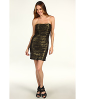Mark & James by Badgley Mischka - Mark & James Metallic Tulle Rouch Dress