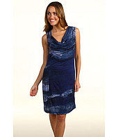 Edun - Indigo Fog Draped Front Jersey Dress