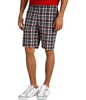 Greg Norman - Plaid Flat Front Tech Shorts