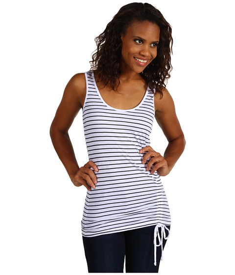 Three Dots - Front Shirring Tank Top (White) - Apparel