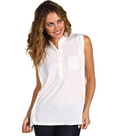 Three Dots - Sleeveless Button Front Top