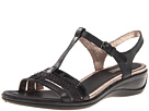 ECCO - Sensata T-Strap Sandal (Black/Black/Sambal/Clodine/Samoa Patent) -