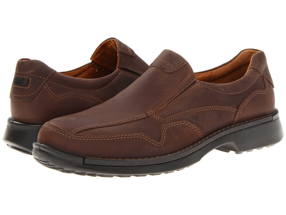 ECCO Fusion Casual Slip On (Cocoa Brown Oil Nubuck) Men