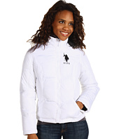 U.S. Polo Assn - Fur Trimmed Puffer with Big Pony