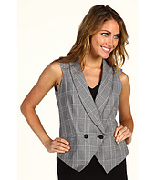Anne Klein - Glen Plaid Cap Sleeve Vest