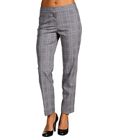 Anne Klein - Glen Plaid Slim Pant