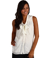Anne Klein - Bow Blouse w/ Lace