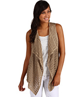 Anne Klein - Sleeveless Open Front Swoop Vest