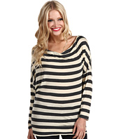 Michael Stars - Heather Stripe Cowl Neck Top
