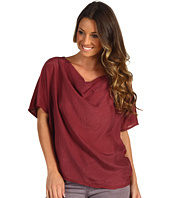 Michael Stars - Sandwashed Silk Dolman Drape Neck Top