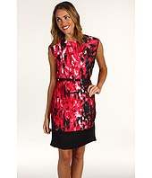 Anne Klein Petite - Petite Rouge Print Wedge Dress