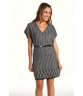 Anne Klein Petite - Petite S/S Flutter Sleeve V-Neck Dress