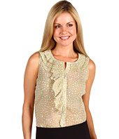 Anne Klein Petite - Petite Abstract Dot Print Sleeveless Blouse (24