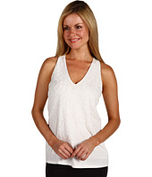 Anne Klein Petite - Petite Sleeveless V-Neck Beaded Front Tank