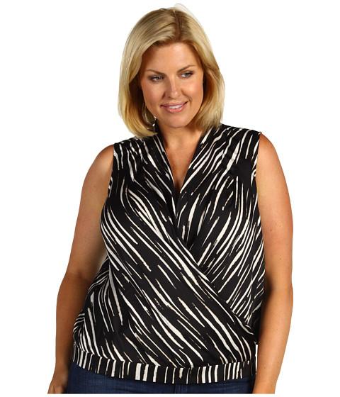 Zebra Print Plus Size Blouse 82