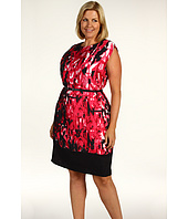Anne Klein Plus - Plus Size Rouge Print Wedge Dress